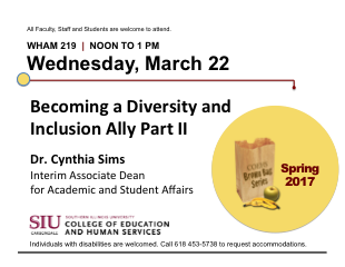 Becoming a Diversity and Inclusion Ally Part II