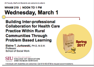 Building Inter-professional Collaboration for Health Care Practice Within Rural Communities Through Problem Based Learning by Elaine T. Jurkowski, PH.D, M.S.W. Professor School of Social Work