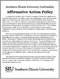 Affirmative Action Policy