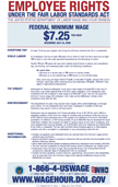 Minimum Wage/Fair Labor Standards Act poster