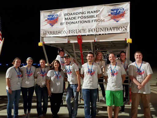 SIU Recreation Professions students serve as Veteran's Honor Flight volunteers