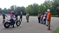 SIU students attend motorcycle class