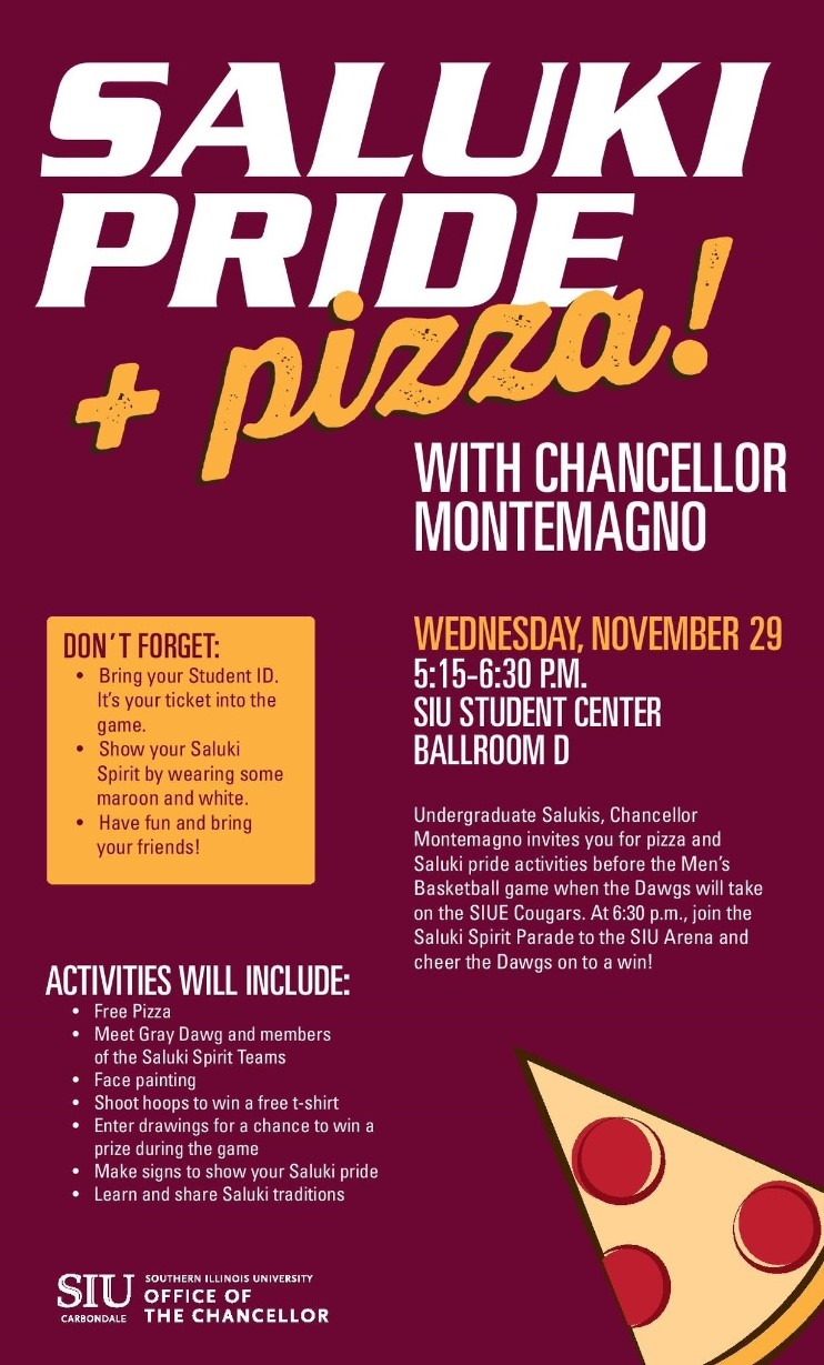 SIU pizza and pride flyer